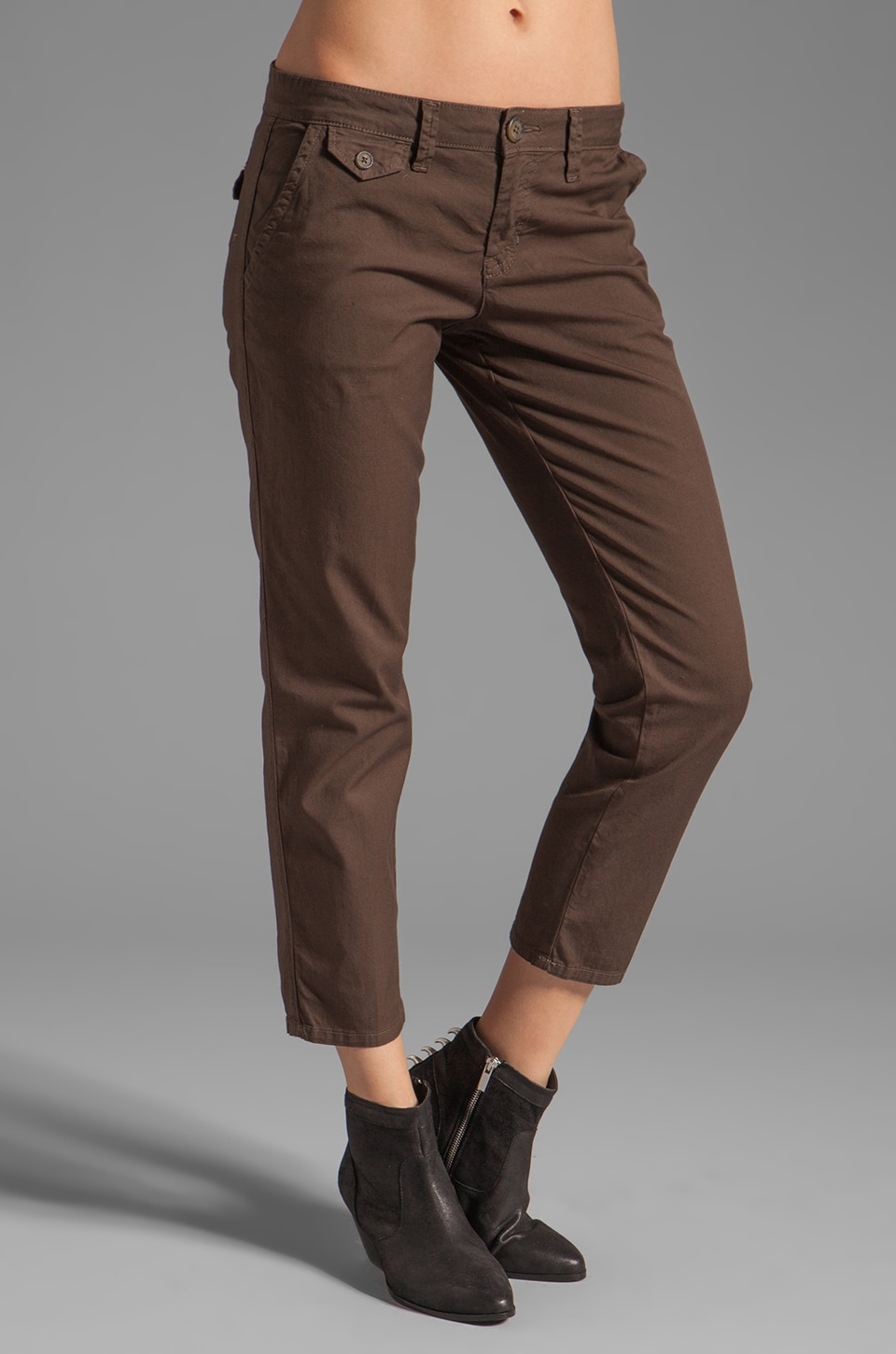 Sanctuary Everyday Boyfriend Chino in Olive Green