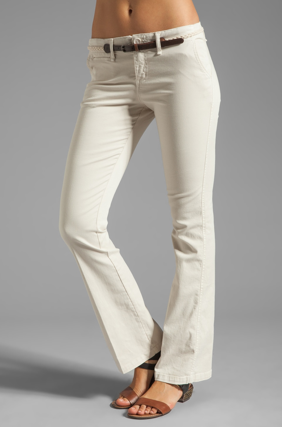 Sanctuary Liberty Chino Trouser with Belt in Muslin