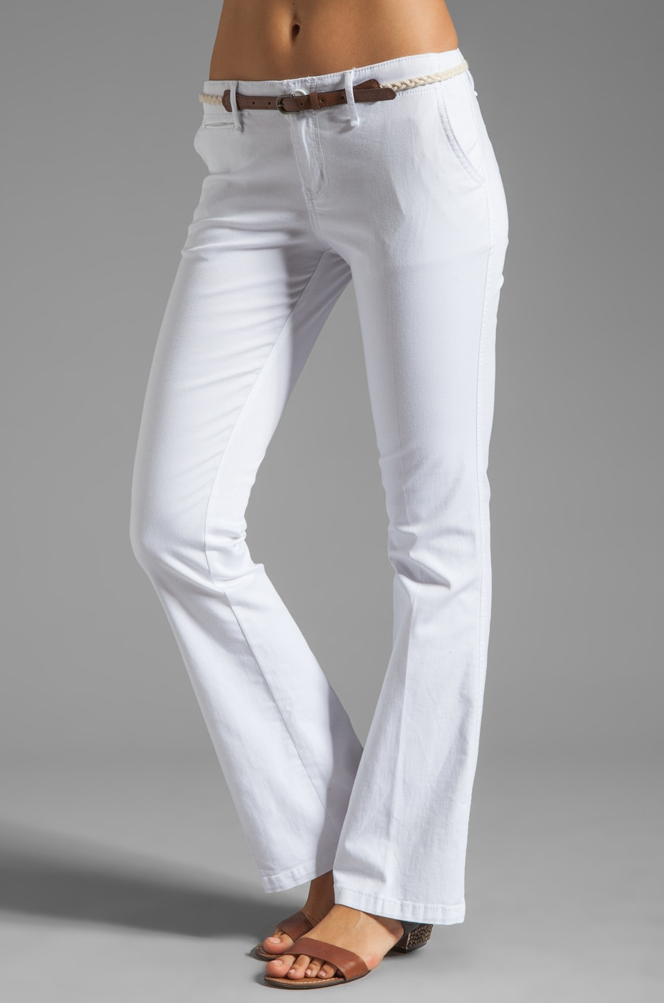 Sanctuary Liberty Chino Trouser with Belt in White