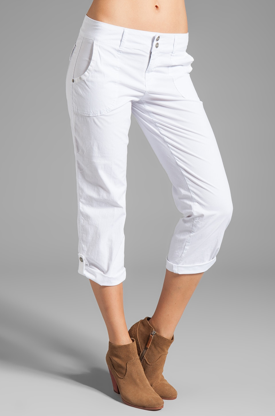 Sanctuary Sunday Poplin Crop in White