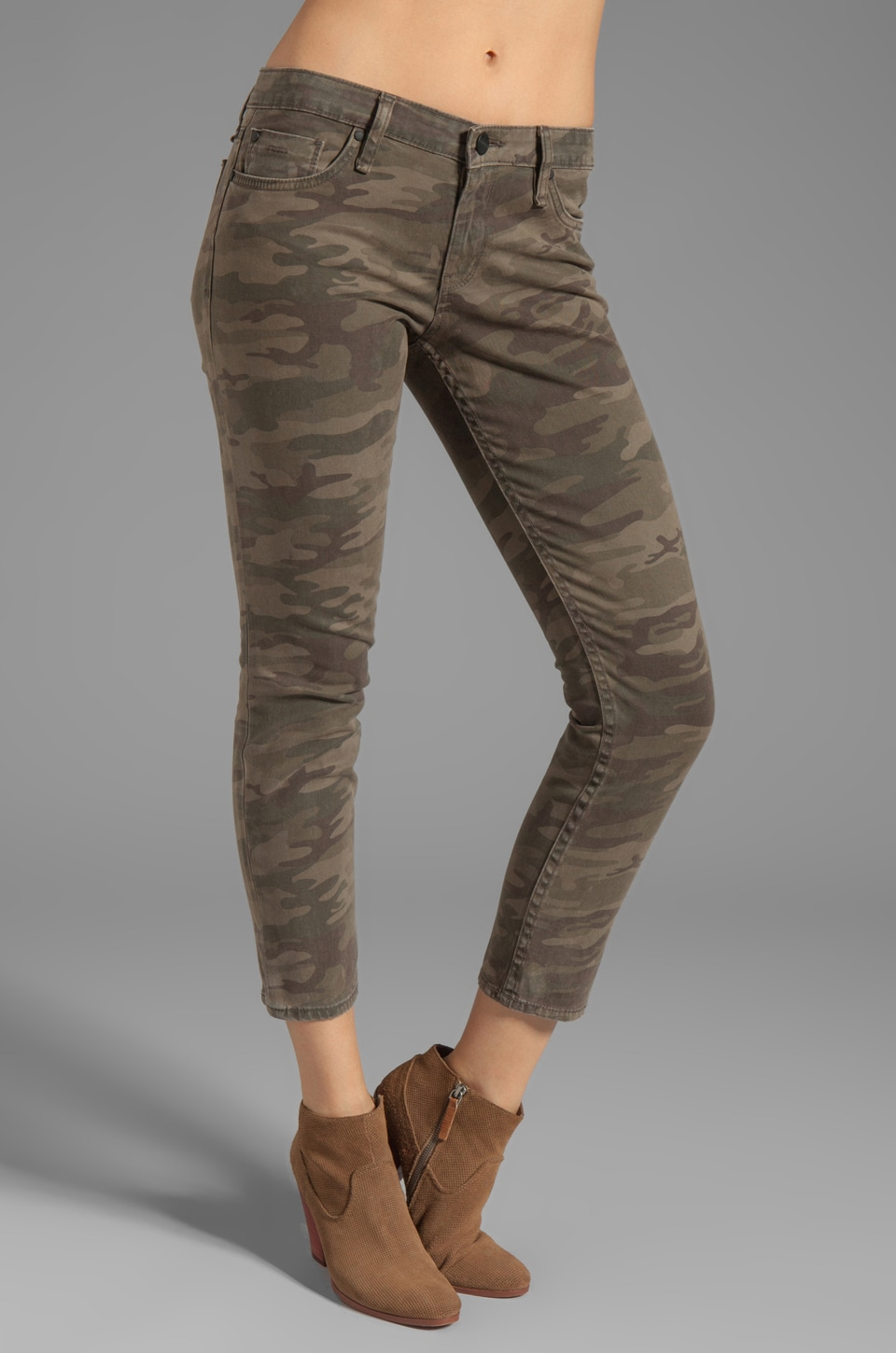 Sanctuary Modern Nomad Camo Charmer Capri in Safari