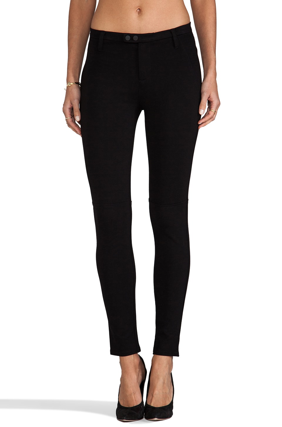 Sanctuary Ponte Snap Moto Pant in Black
