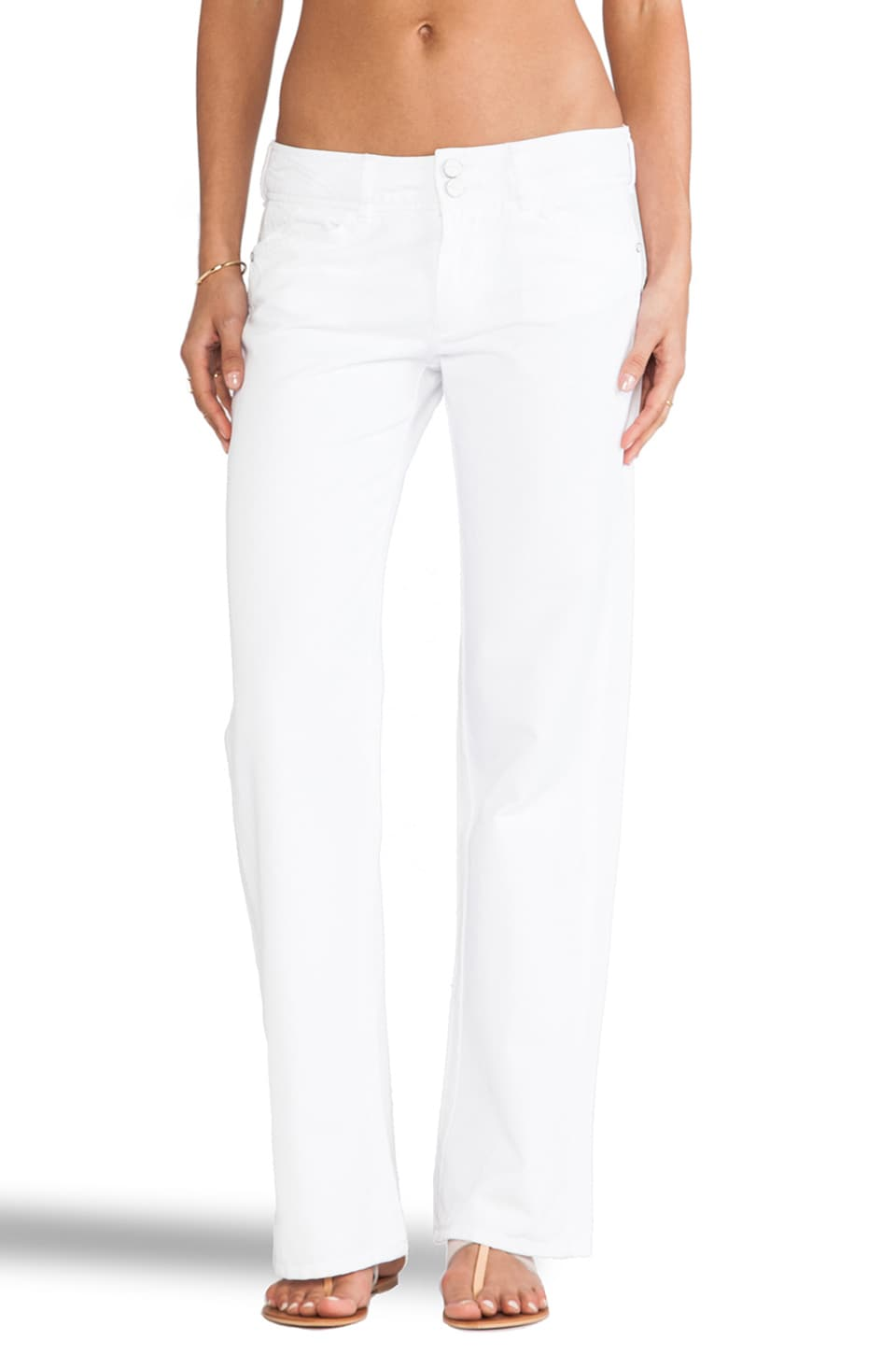 Sanctuary Easy Wide Leg City Chino Pants in White