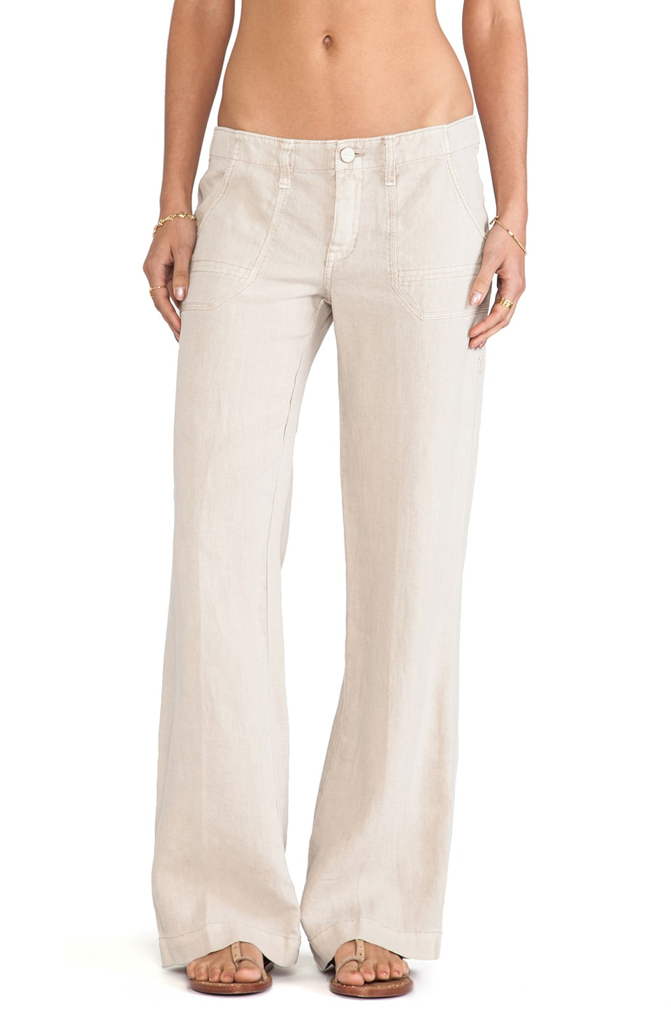 Sanctuary Linen Breezeway Pants in Flax