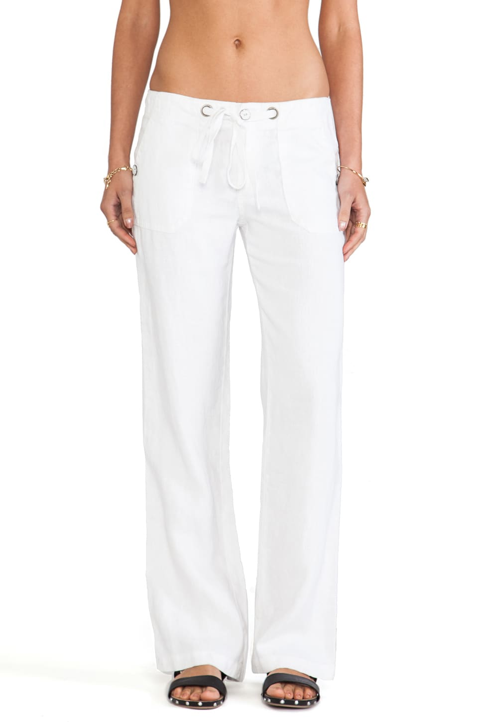 Sanctuary New Beach Comber Pant in White