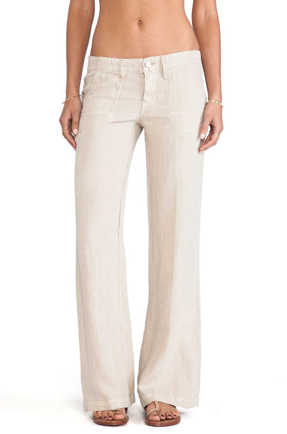 Sanctuary Linen Breezeway Wide Leg Pants in Flax