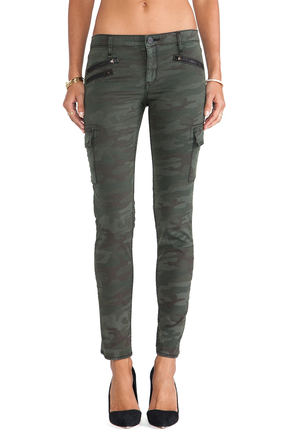Sanctuary Heritage Civilian Cargo Pants in Hunter