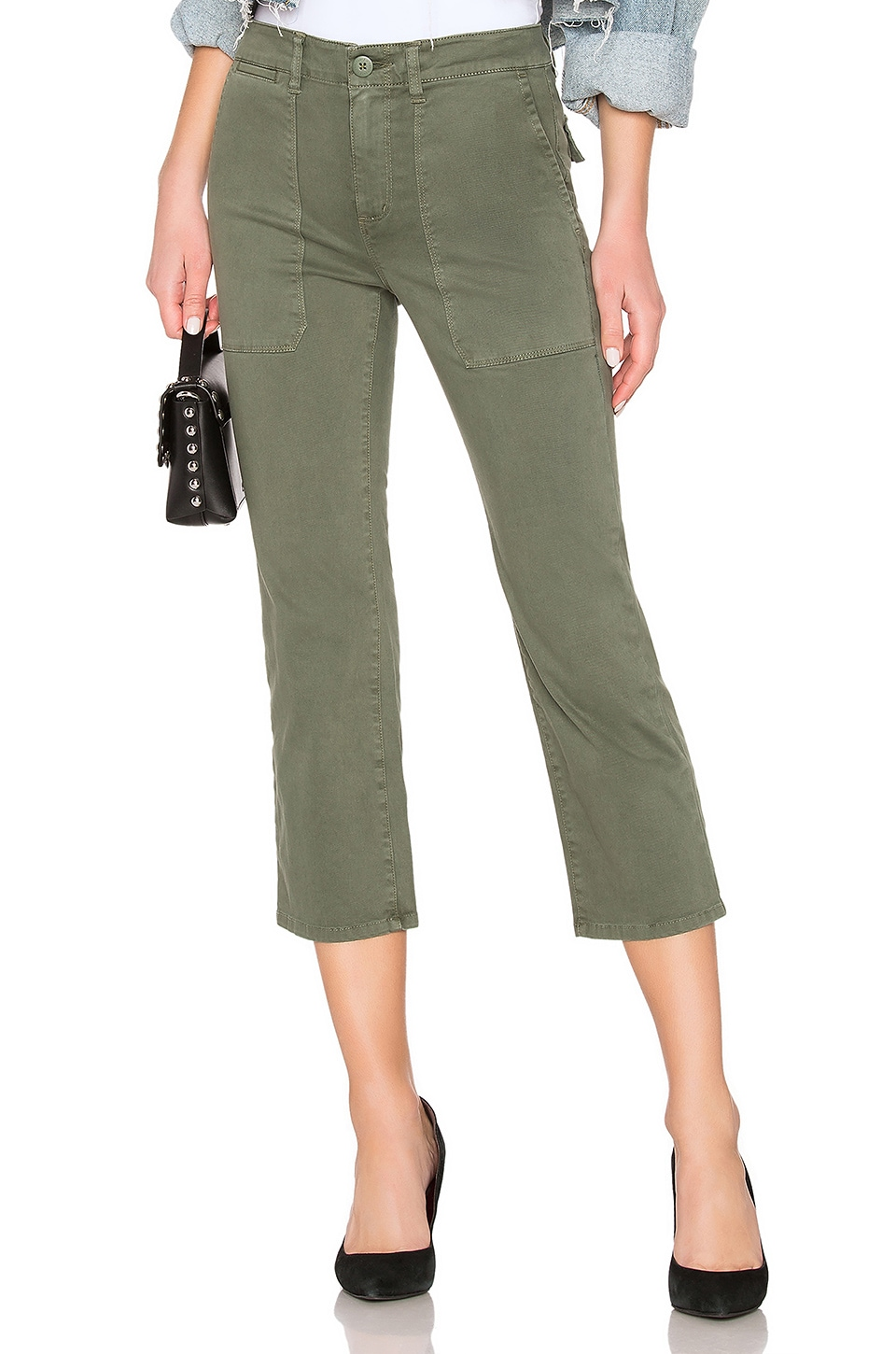 Sanctuary Peace Crop Chino Print in Peace Green