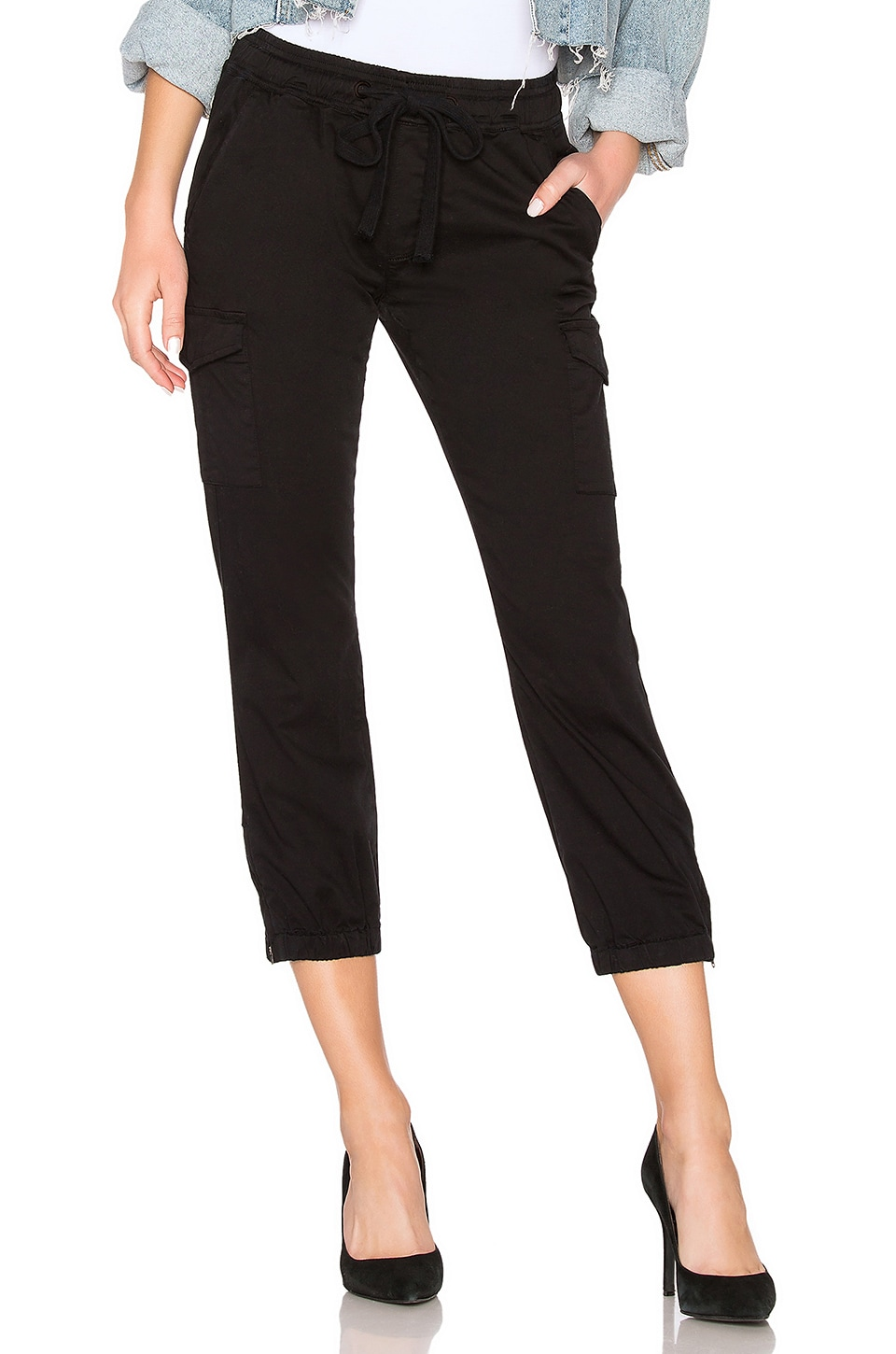 Sanctuary  SANCTUARY PULL ON TROOPER PANT IN BLACK.