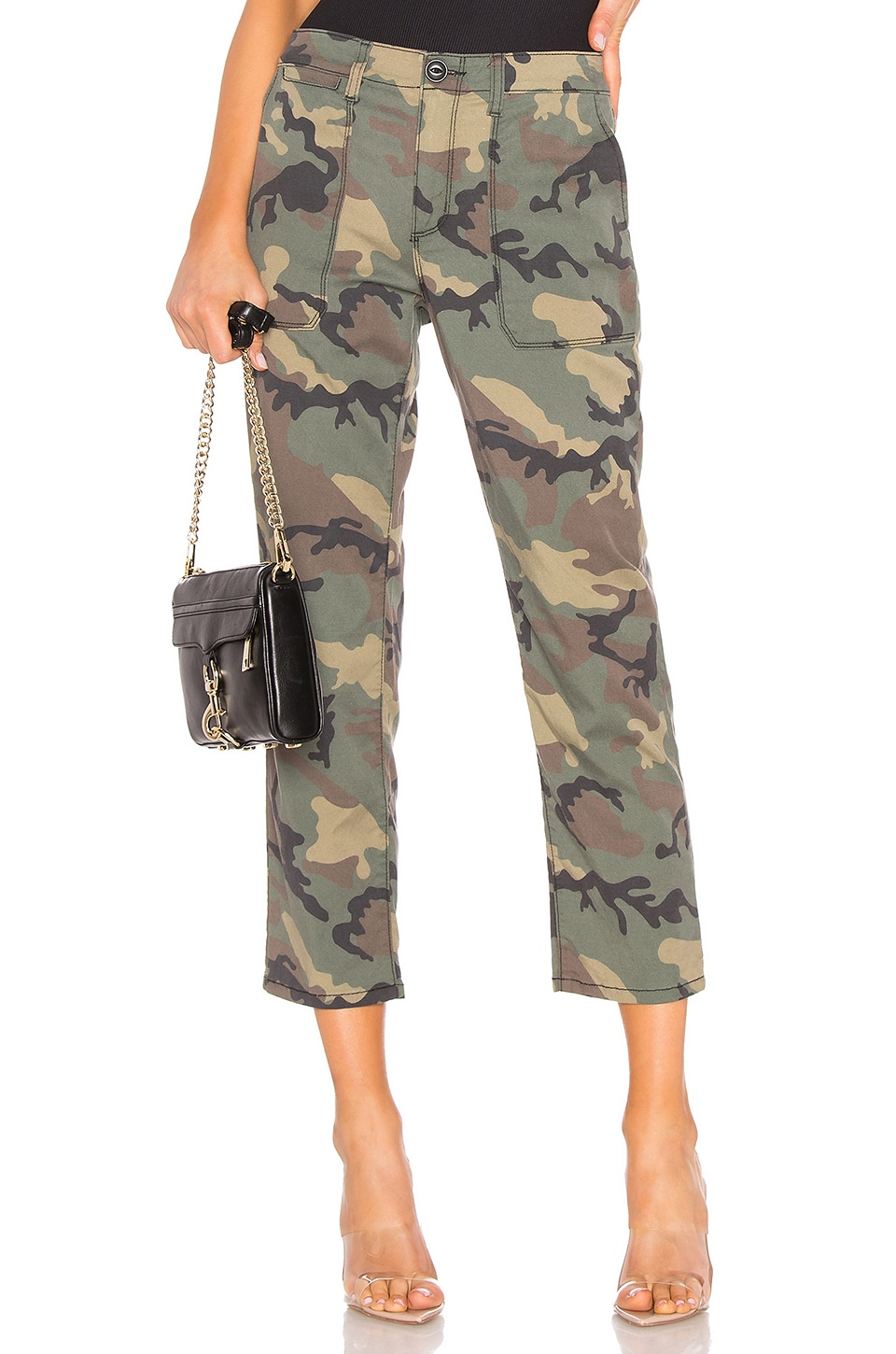 Sanctuary Peace Crop Chino Pant in Love Camo