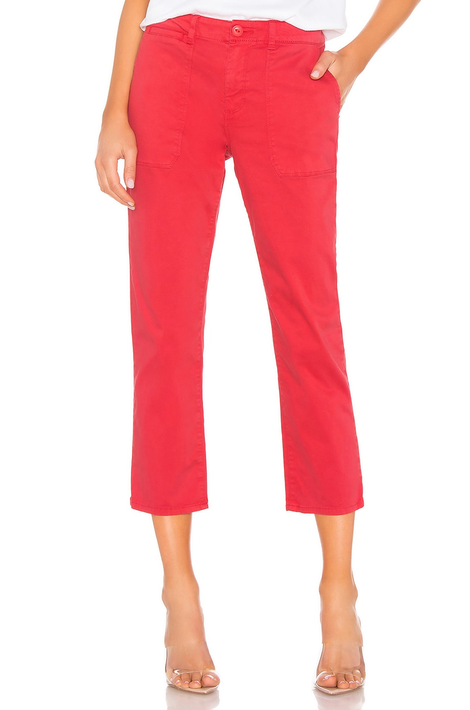 Sanctuary Peace Crop Chino Pant in Poppy Red