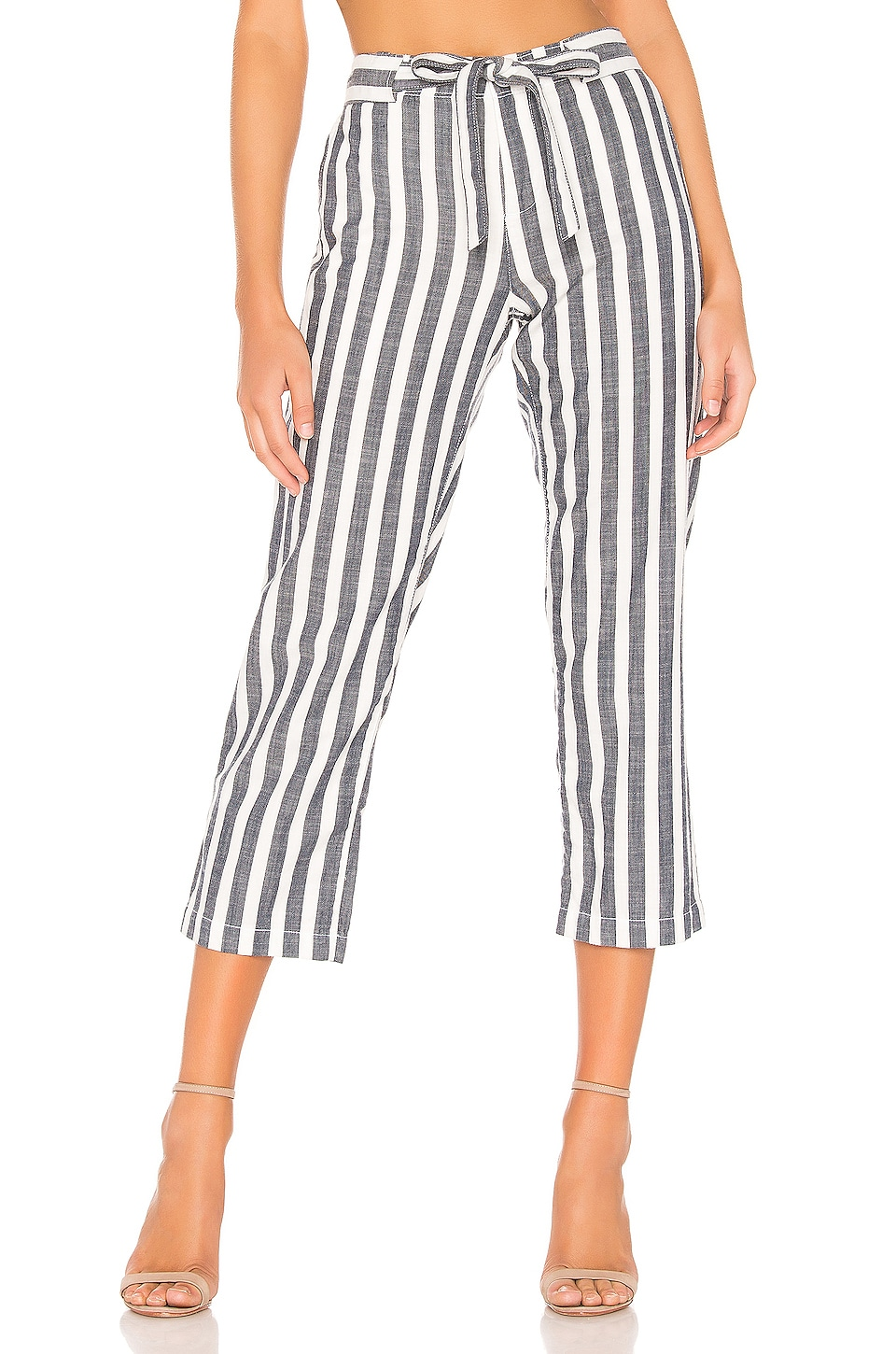 Sanctuary Sasha Stripe Crop Pant in Raven Stripe