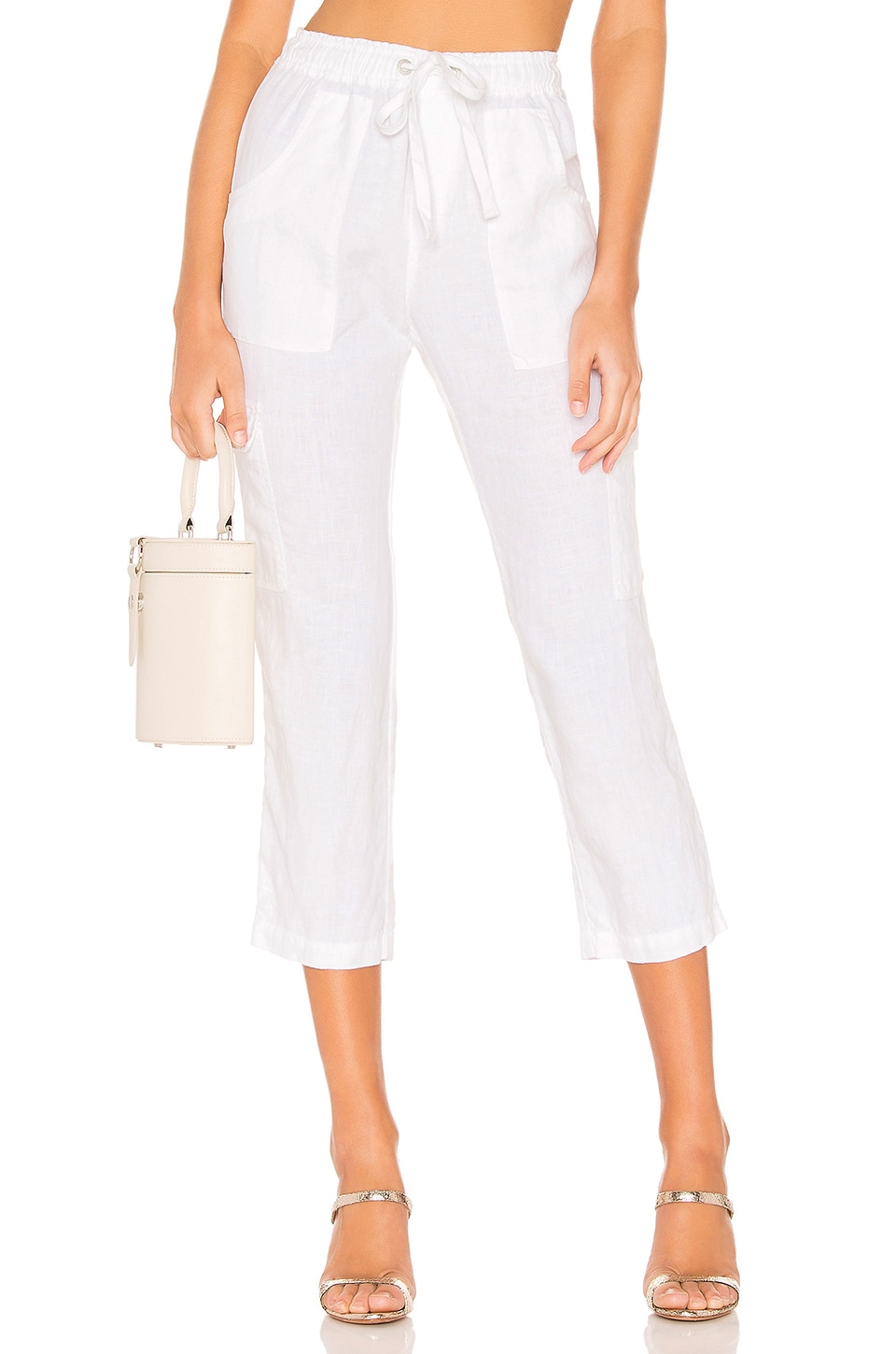 Sanctuary Discoverer Pull On Cargo Pant in Brite White