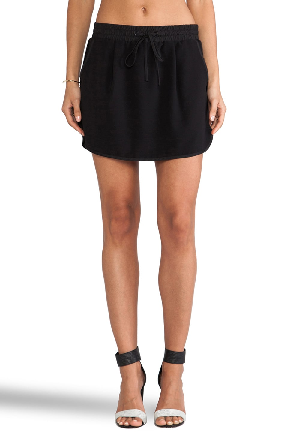 Sanctuary Track Skirt in Black