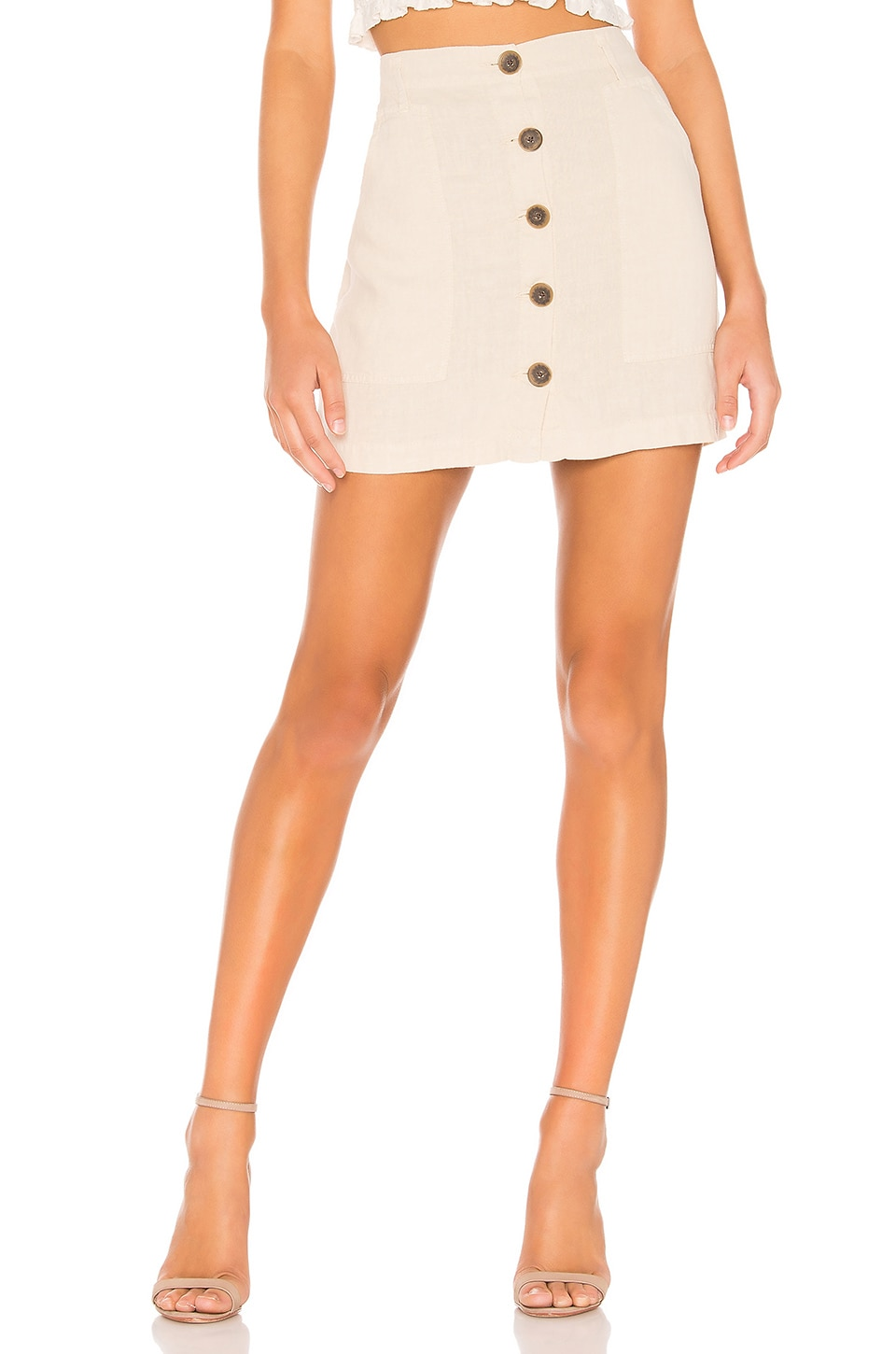 Sanctuary Blazers SANCTUARY TRAIL BLAZER BUTTON FRONT UTILITY SKIRT IN BEIGE.