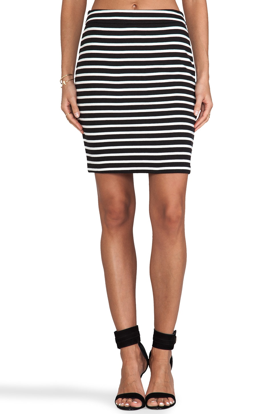 Sanctuary Sexy Stripe Mini Skirt in Ivory Multi