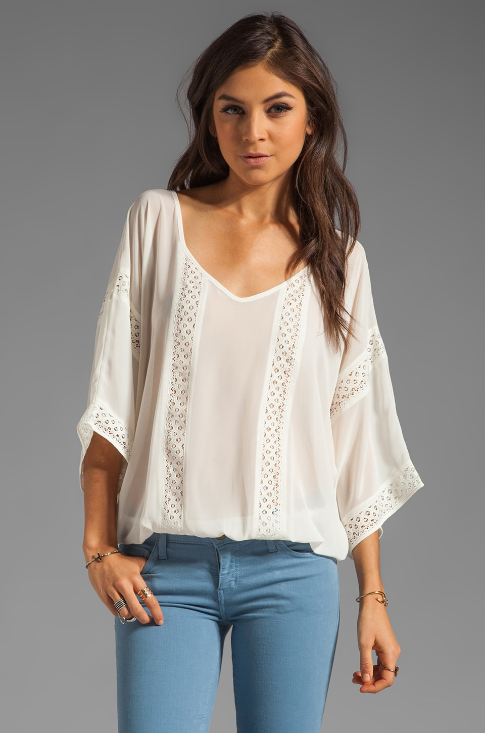 Sanctuary Cheyenne Top in Muslin