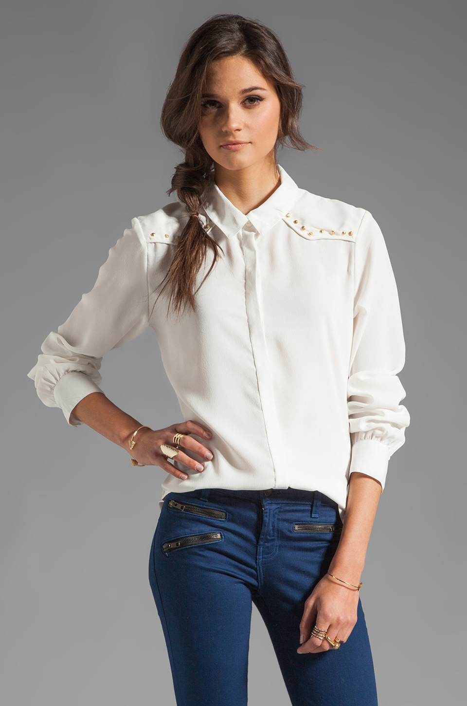 Sanctuary Dainty Cowgirl Top in Ivory