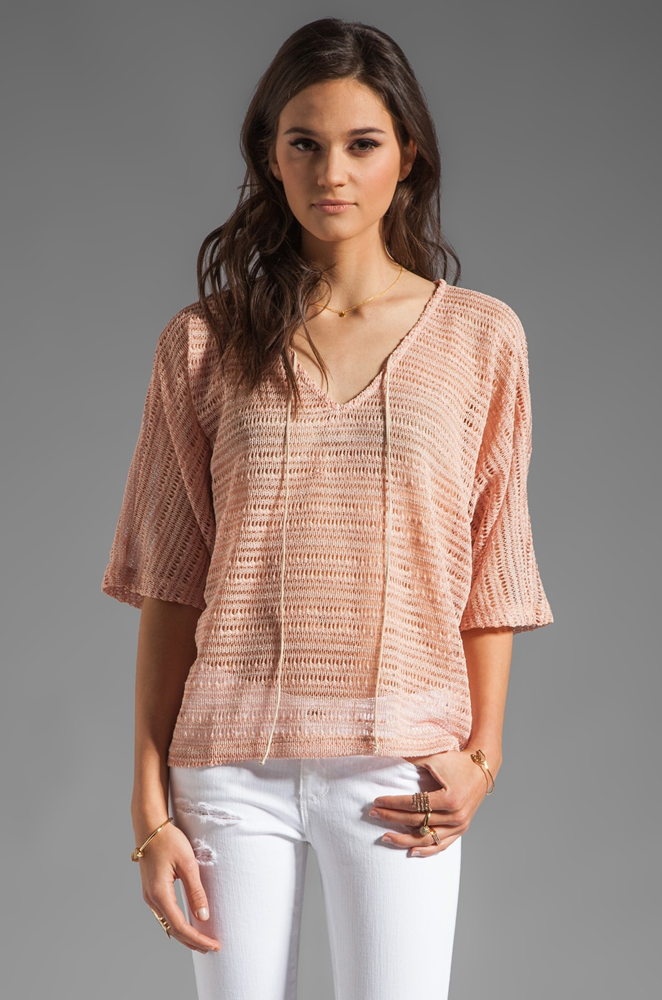 Sanctuary Blanket Tee en Savanna Stripe