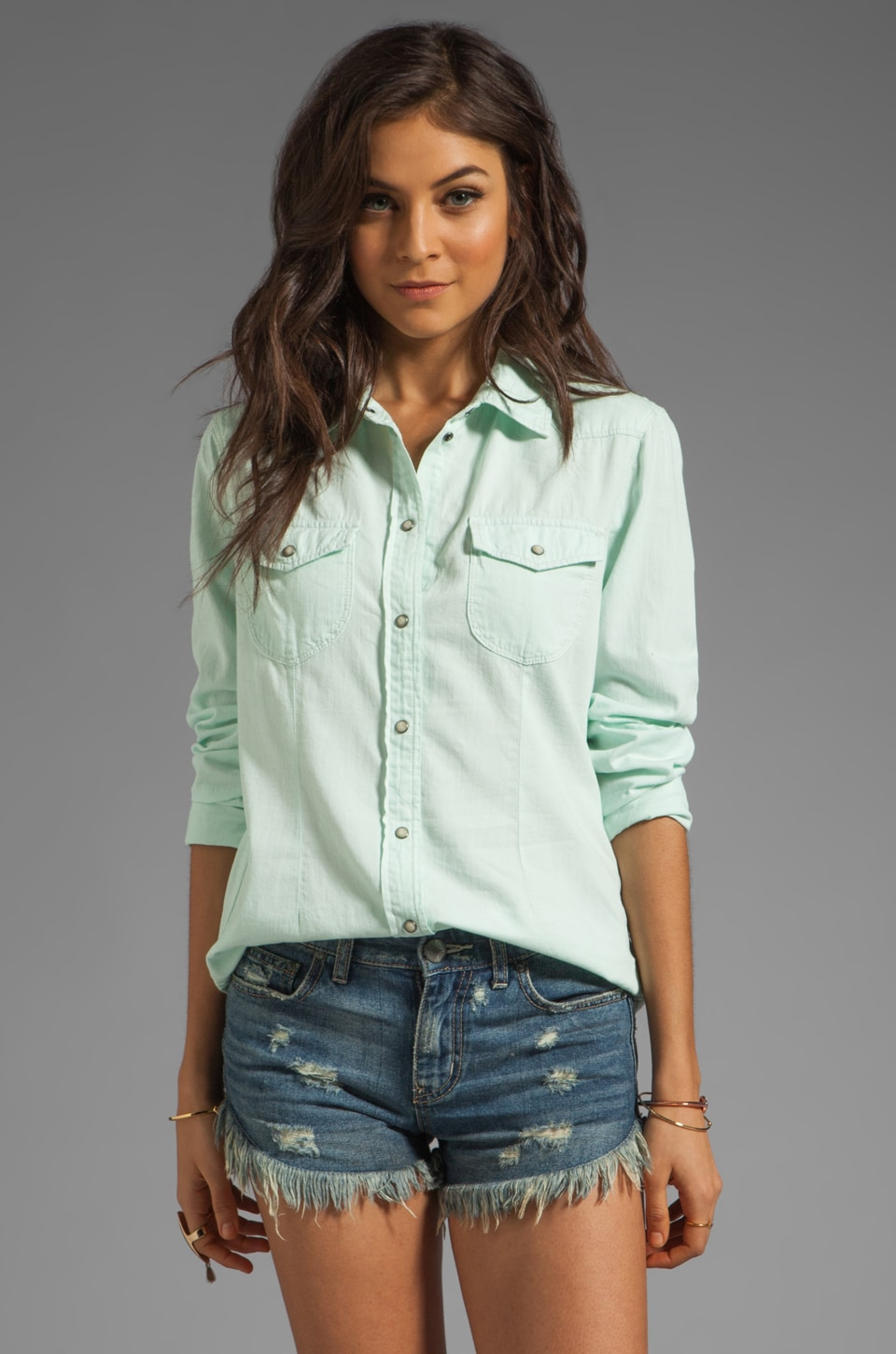 Sanctuary Southern Rock Top in Billy Mint