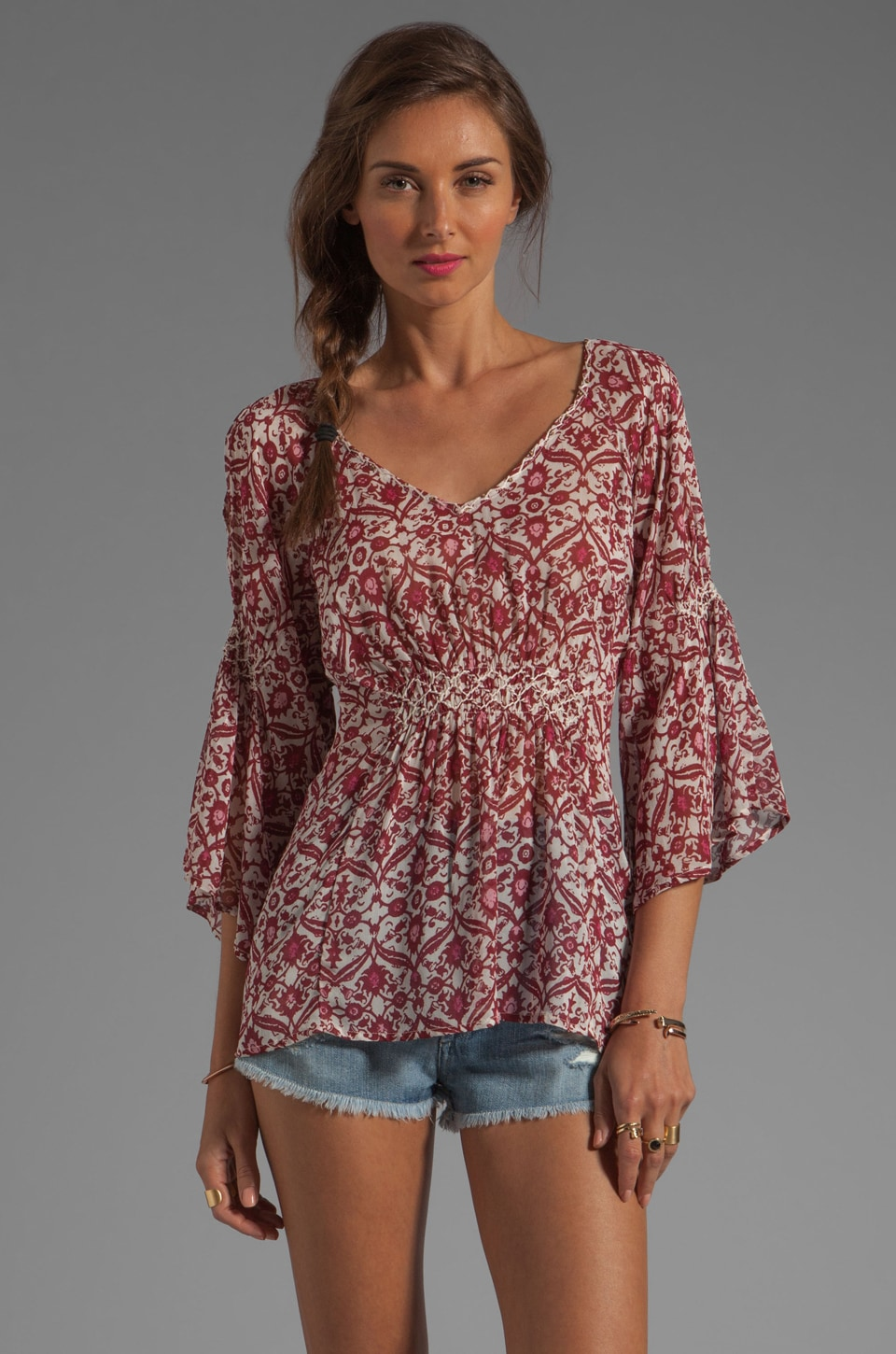 Sanctuary The Playa Blouse in Flea Market Print