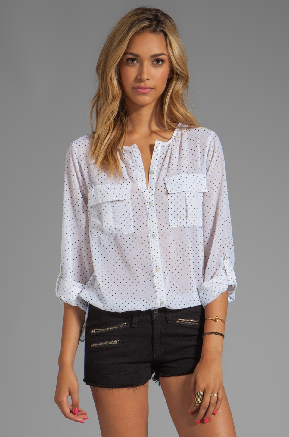 Sanctuary Black and White Cannes Sidewalk Cafe Top in White