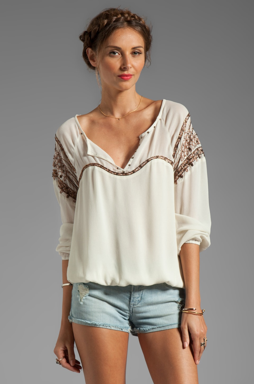 Sanctuary Matador Blouse in Ivory