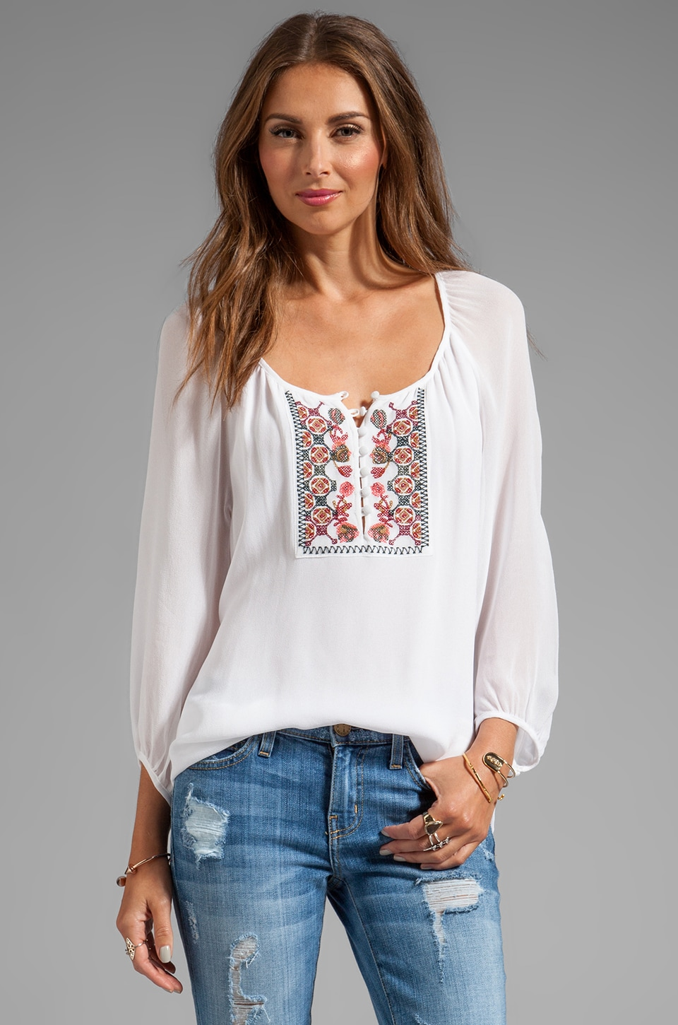 Sanctuary Soft Wovens Wild Belle Blouse in White