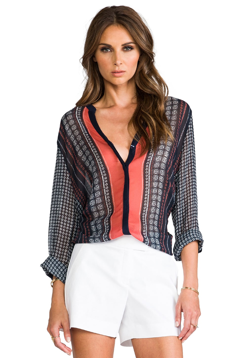 Sanctuary Scarf Print Blouse in Scarf Print