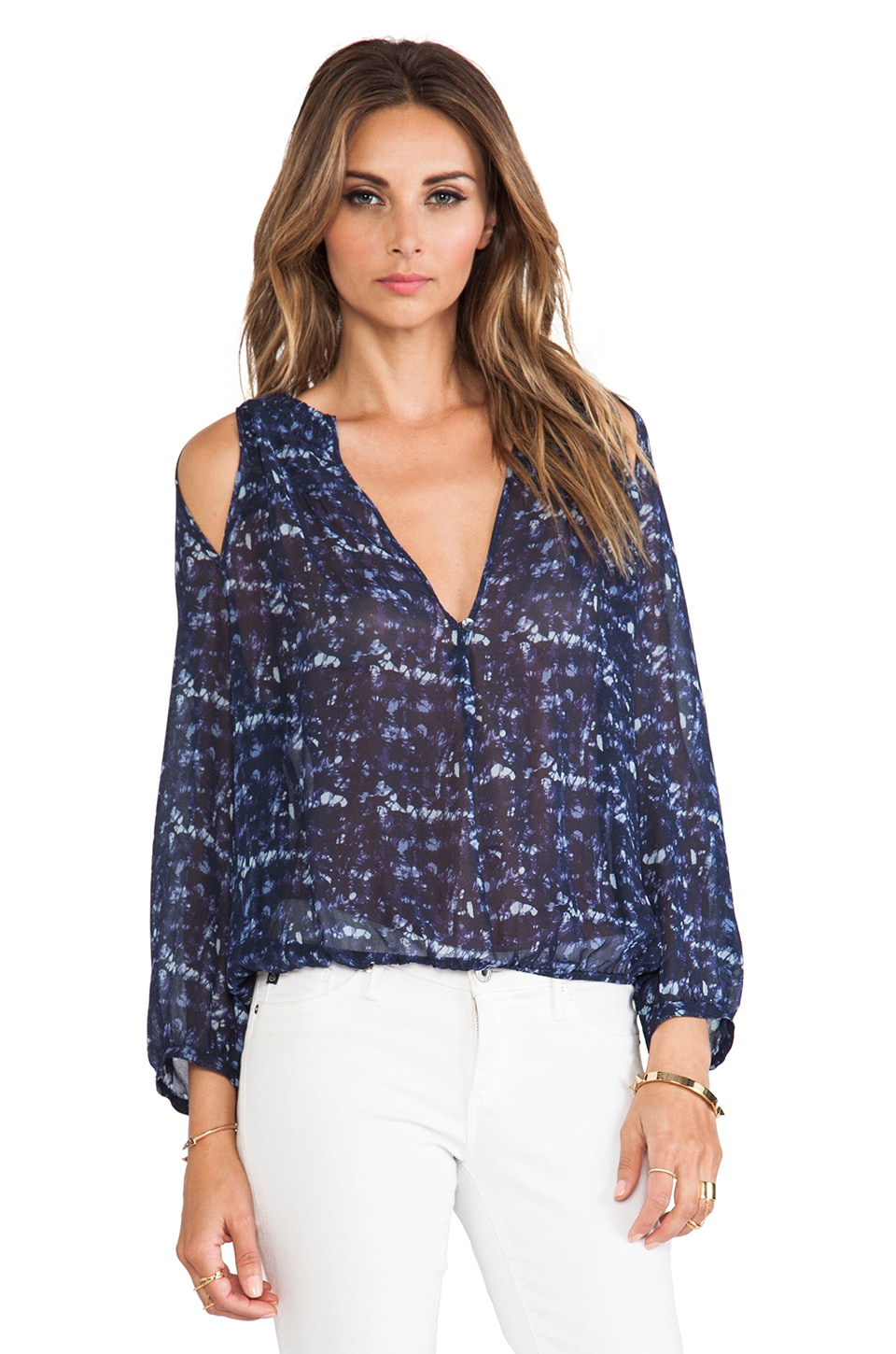 Sanctuary Clemence Blouse in Ocean Ink