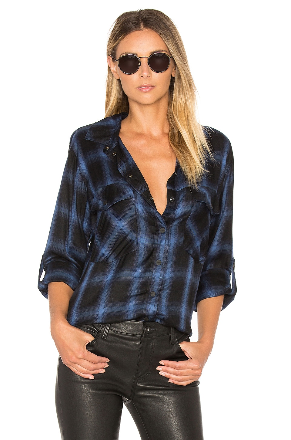 Sanctuary Boyfriend Shirt in Radiant Etienne Plaid