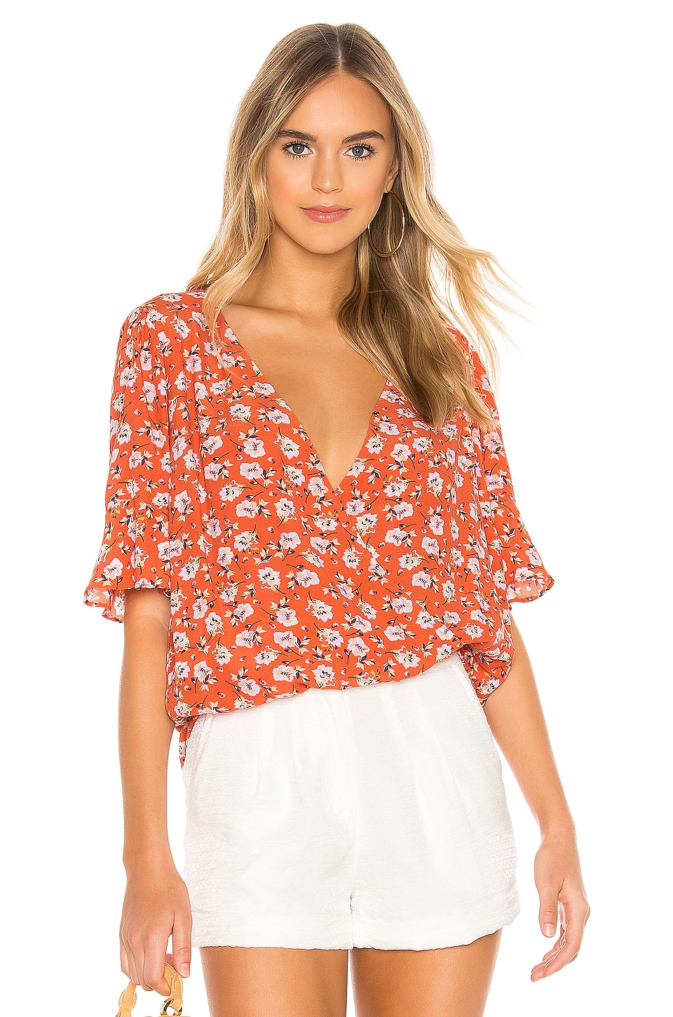 Sanctuary Garden Party Wrap Top en Spring Fever