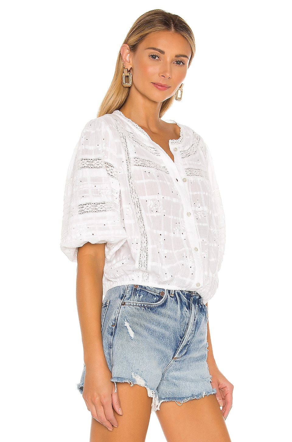 Country Lane Heirloom Blouse, view 2, click to view large image.