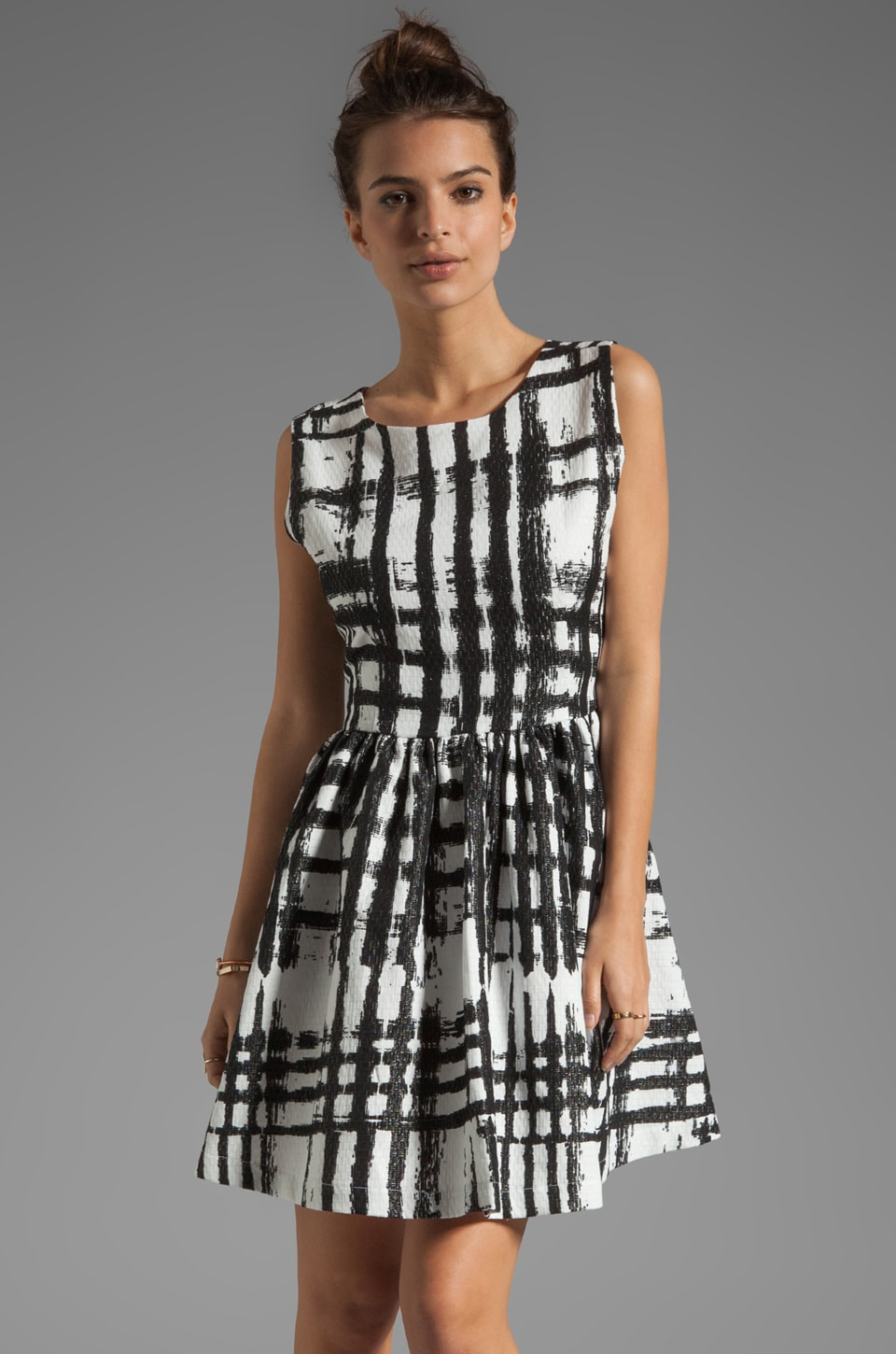 SAM&LAVI Crom Dress in Techno Plaid