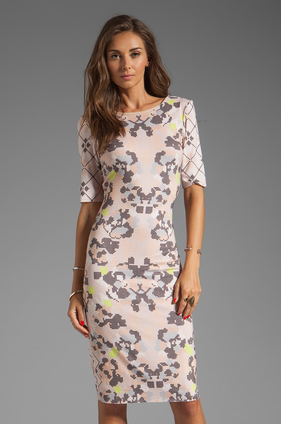 SAM&LAVI Arabella Dress in Digital Folks Print