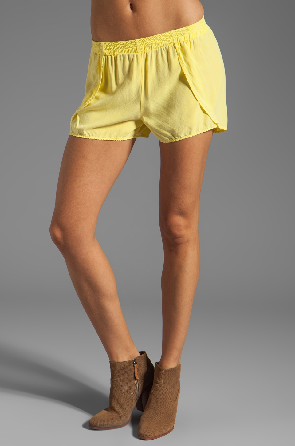 SAM&LAVI Lance Shorts in Light Yellow