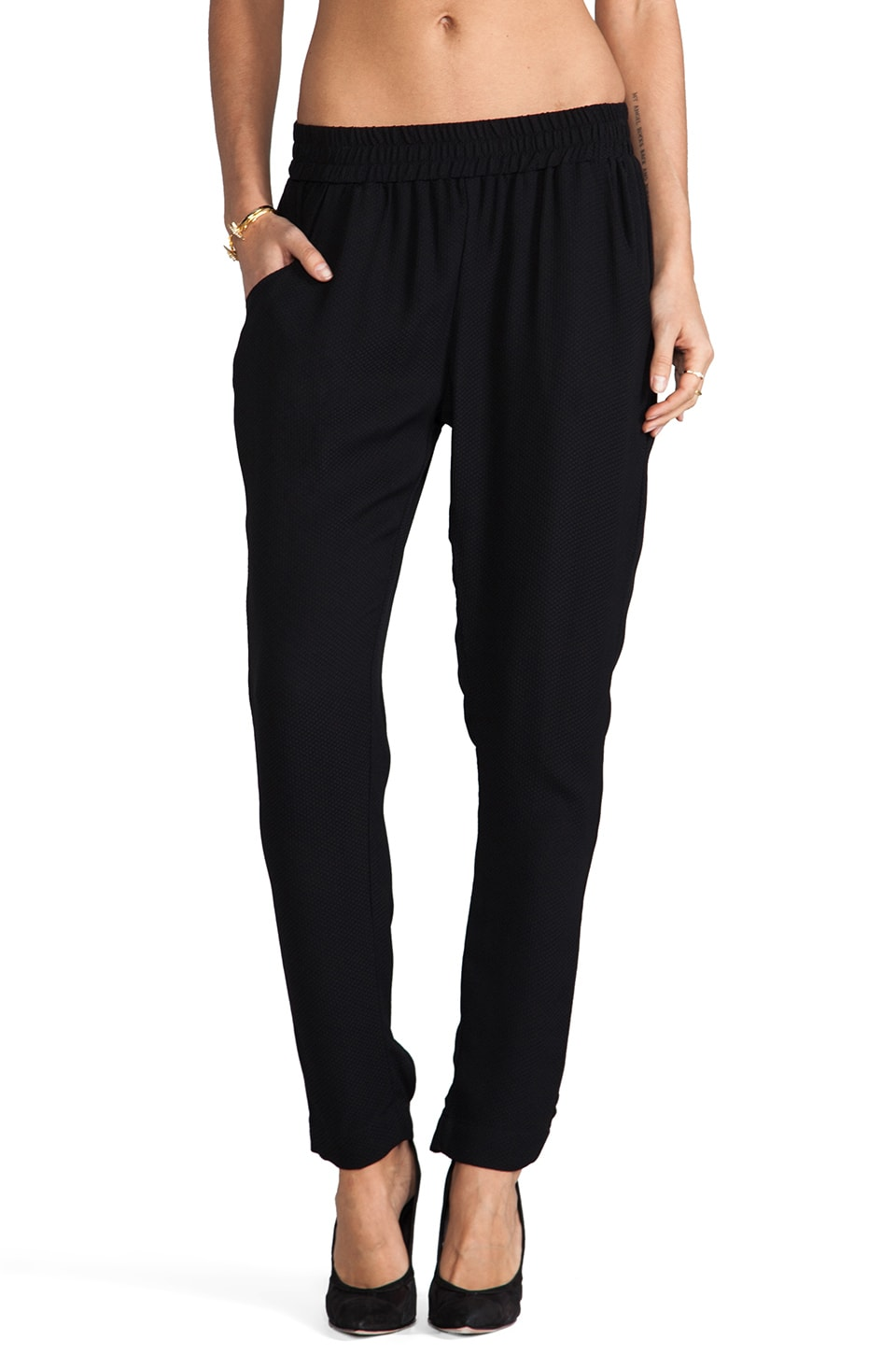 SAM&LAVI Cash Pants in Black