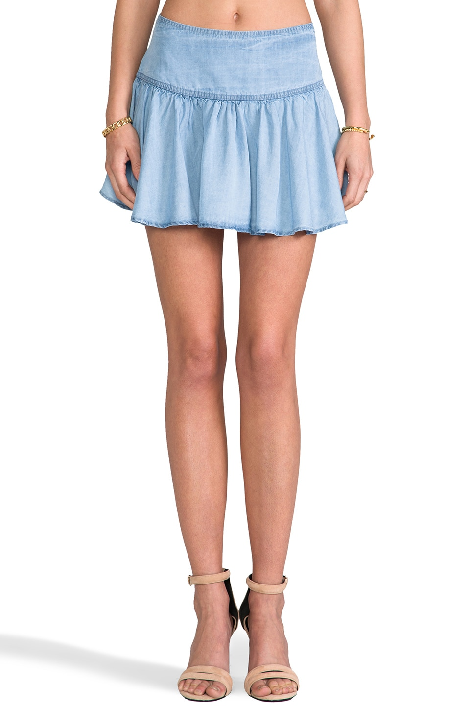 SAM&LAVI Lydia Skirt in Chambray