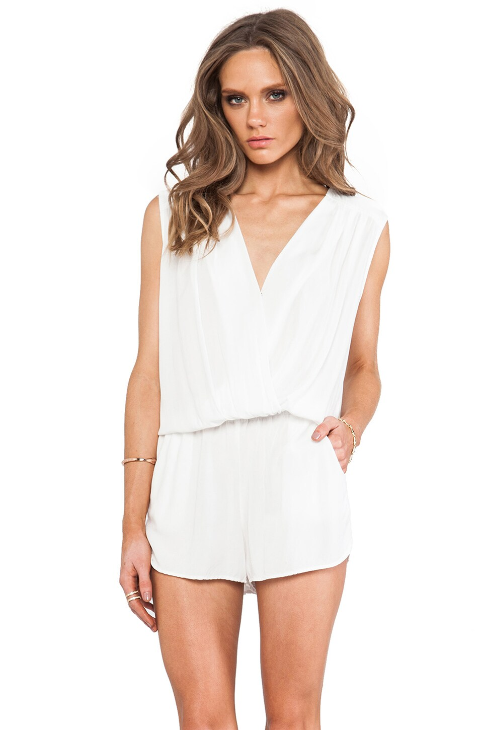 SAM&LAVI Julia Romper in White
