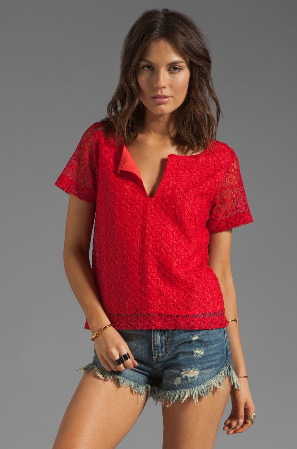 SAM&LAVI Audi Top in Ruby Red