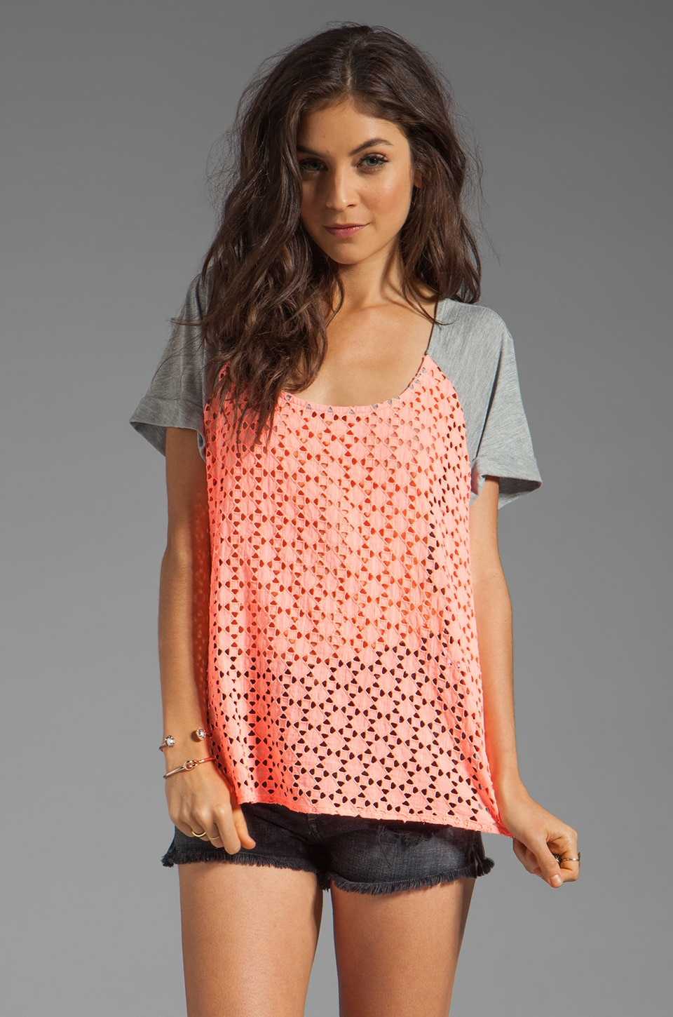 SAM&LAVI Nash Top en Corail Clair
