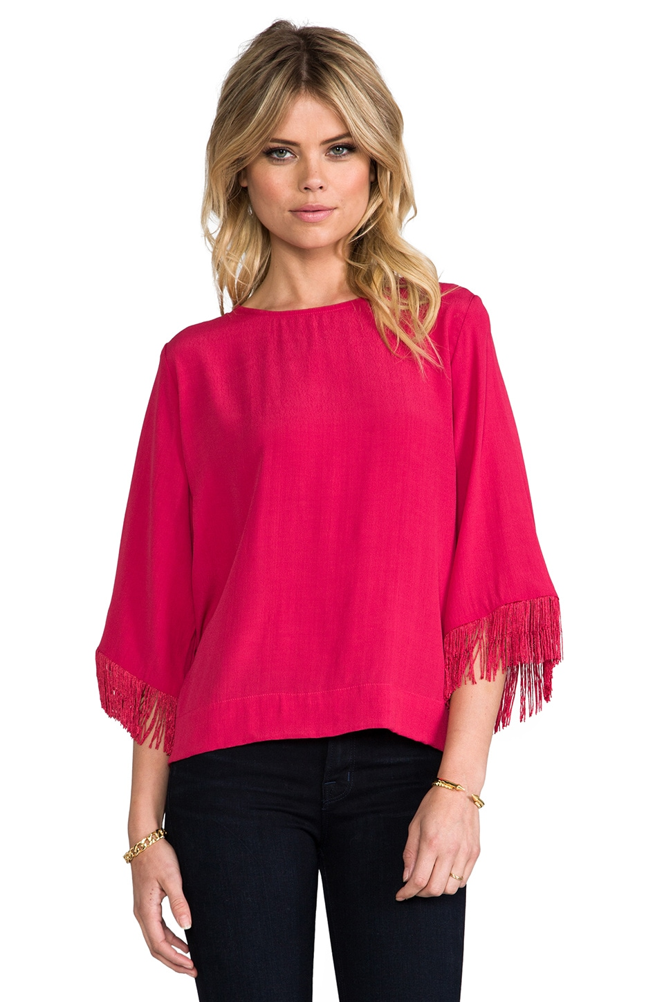 SAM&LAVI Noora Top in Cardinal Red