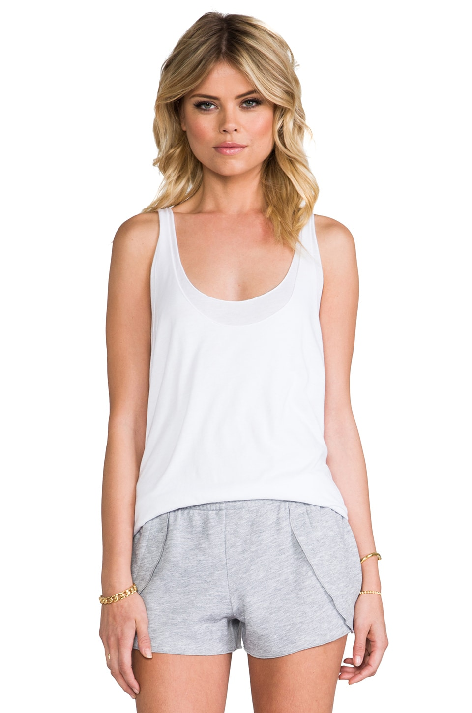 SAM&LAVI Lainey Tank in White