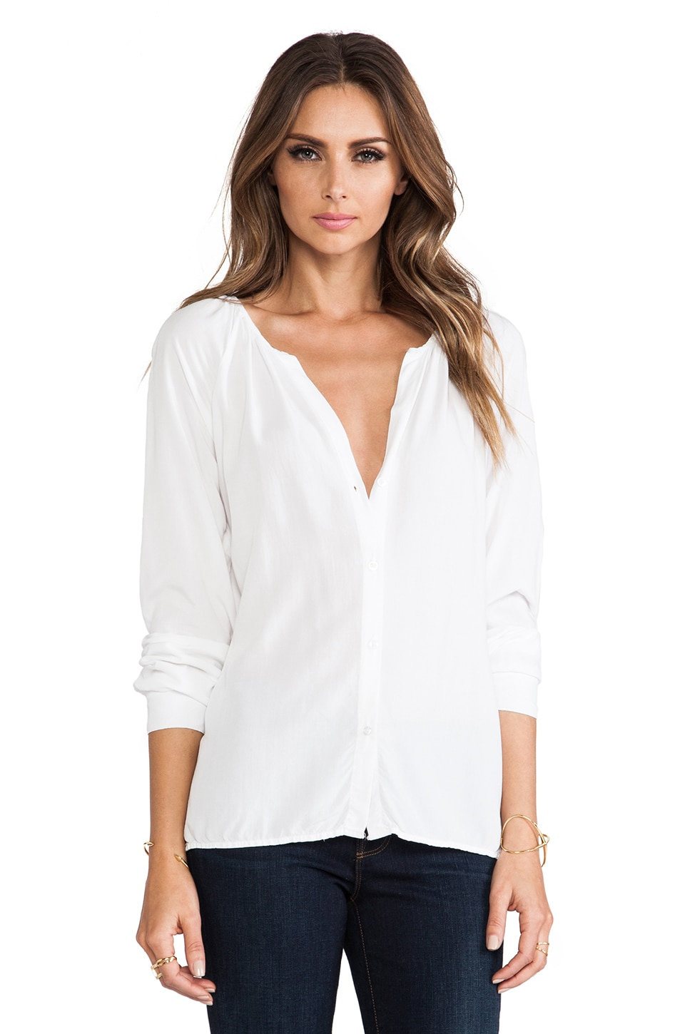 SAM&LAVI Rumi Top in White