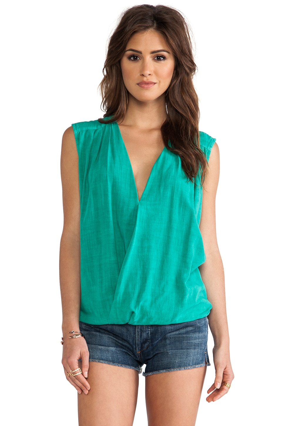 SAM&LAVI Miranda Tank in Kelly Green