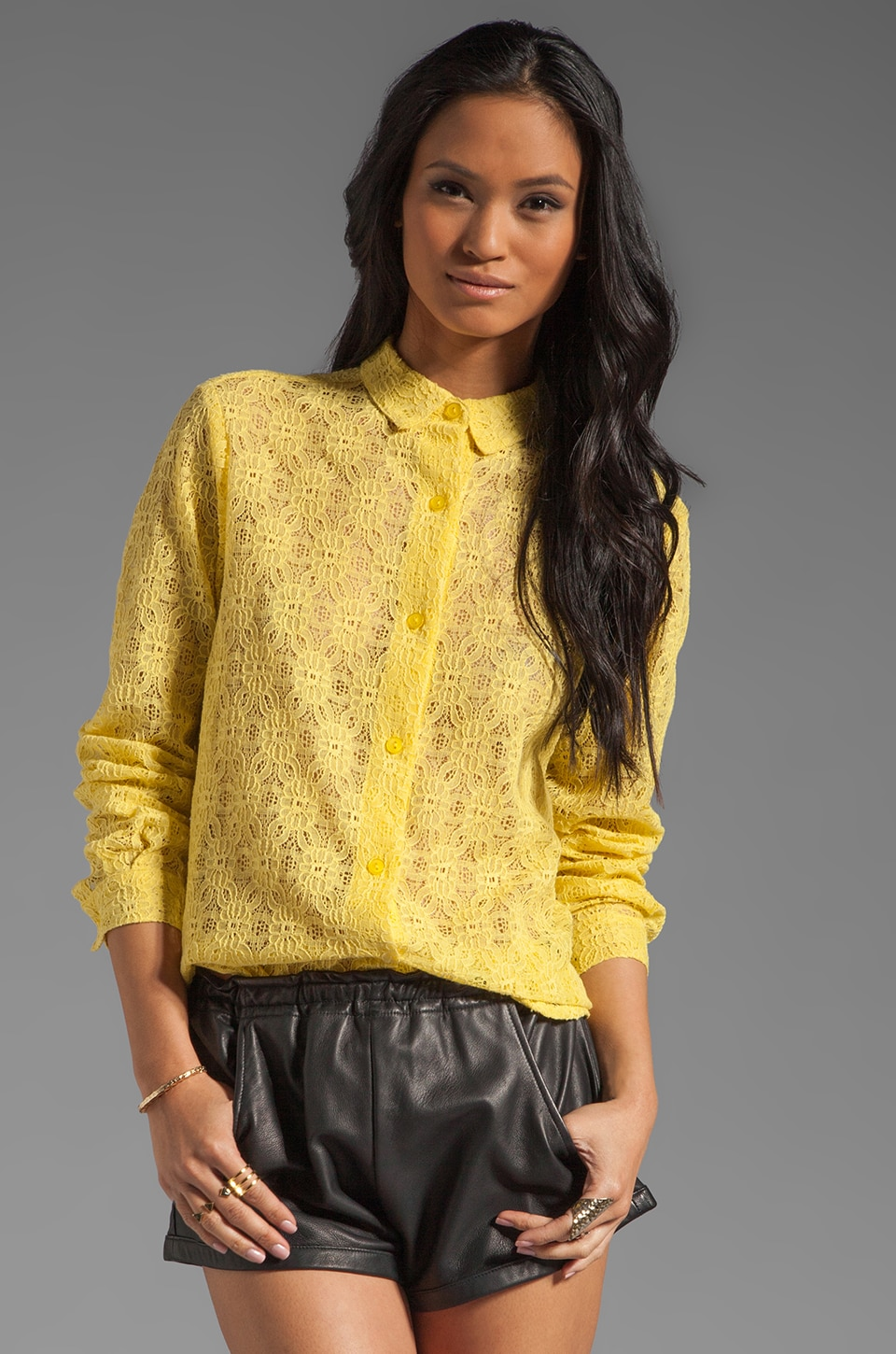 SAM&LAVI Paulette Blouse in Sunshine