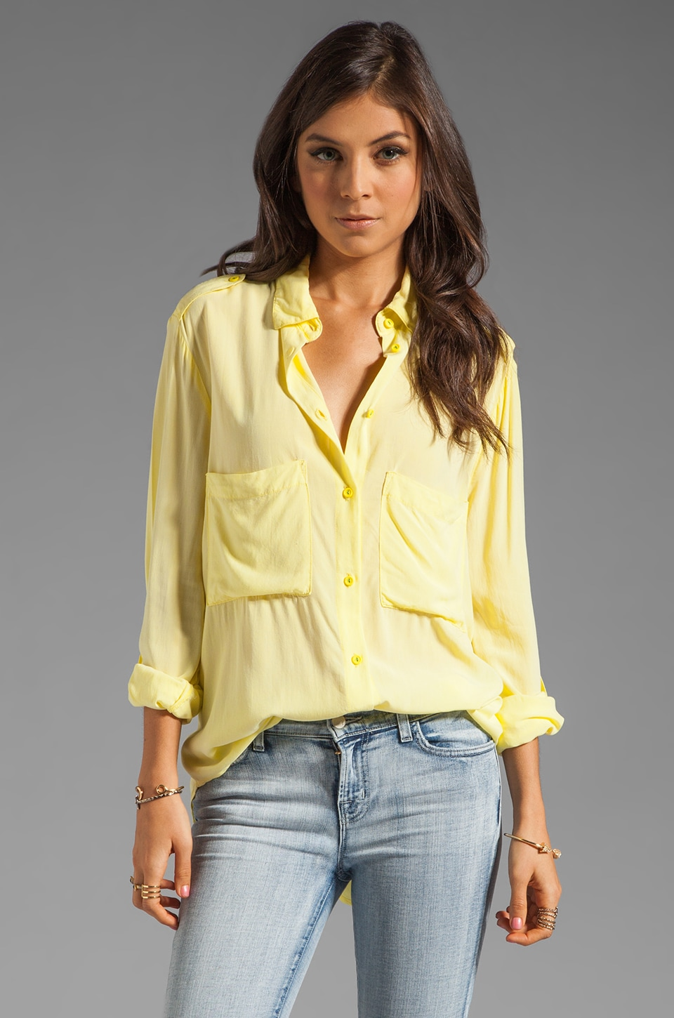 SAM&LAVI Trixie Blouse in Bright Lime
