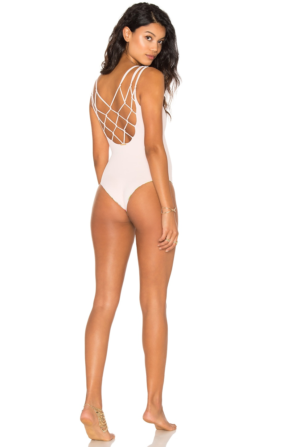 SAN LORENZO Interlace Swimsuit in Rose Quartz