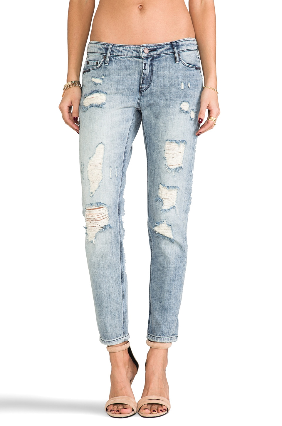 Sass & Bide How It Starts Distressed Skinny in Washed Indigo