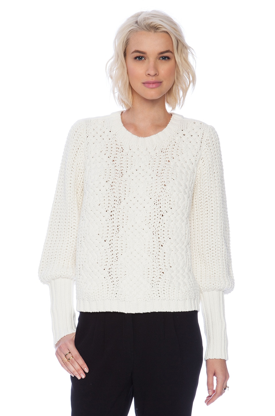 Sass & Bide Special Effects Sweater in Ivory